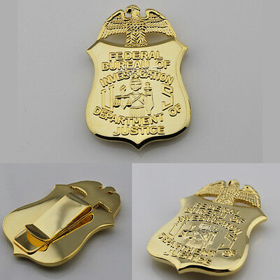 Fashion New Us Fbi Badge Money Clip Department Of Justice Badge Clips In Stock