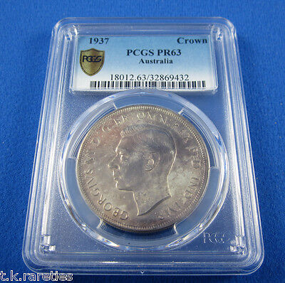 1937 Australian Crown in PROOF. An outstanding coin & the pride of a collection