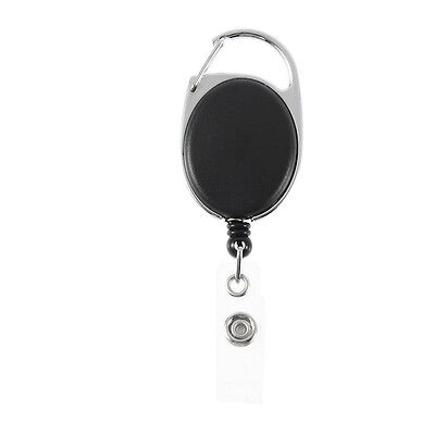 Neu Retractable ID Badge Holder Recoil Card Schlüssel Security Carabiner Stil