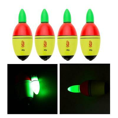 4pcs Fishing EVA Electronic Light Float with 2 Button Cells Fishing Tackle ZG63