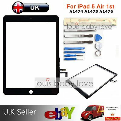 Black Digitizer Touch Screen Glass For iPad 5 Air 1st A1474 A1475 A1476 A1822 UK