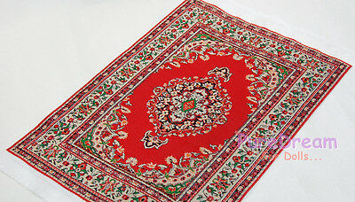 """1/12 Dollhouse Miniature Embroidered Carpet Rug  6""""x10"""" #OR204"""
