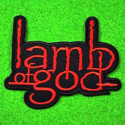 Lamb of God - Heavy Metal Punk Rock Music Band Embroidered Red Patch Iron On Sew