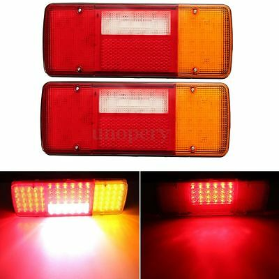 2x 12V 92 LED Stop Rear Tail Indicator Reverse Lamps Lights Trailer Truck Boat