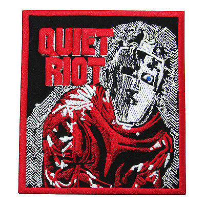 Quiet Riot - Heavy Metal Punk Rock Music Band Embroidered Red Patch Iron On Sew