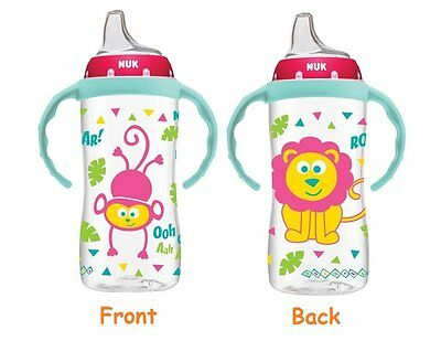 NUK Jungle Designs Large Learner Cup in Girl Patterns bottle 10-Ounce 6 months +