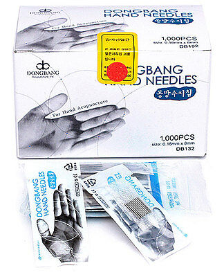 DONGBANG Disposable Acupuncture Hand Needles(0.18x8mm), Oriental Medicine