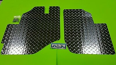 Kawasaki Teryx 2008 thru 2013  Diamond Plate Aluminum Floor board kit