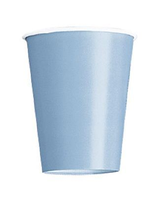 Plain Baby Blue Colour 14 Party Paper Cups 266Ml/9 Oz Tablewear Party Catering