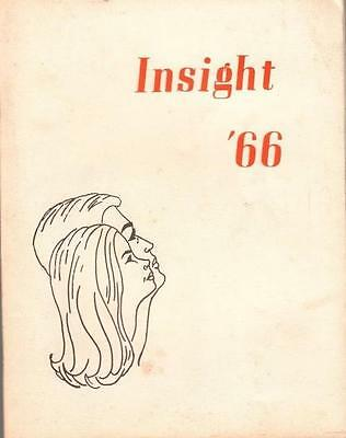 "Rare 1966 Cocoa High School ""insight 66"" Florida Literary Anthology Art & Poetry"