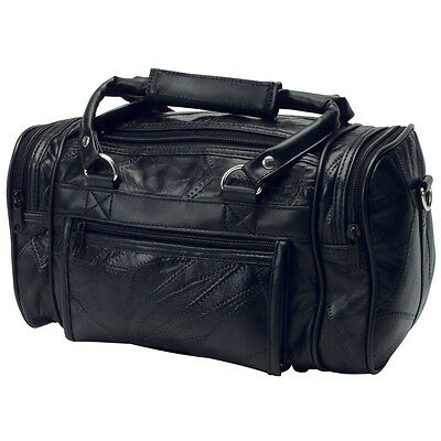 Travel Leather Patchwork Toiletry Bag Men Shave Kit Compact Zipped  Overnight New fe66e5f3130f3