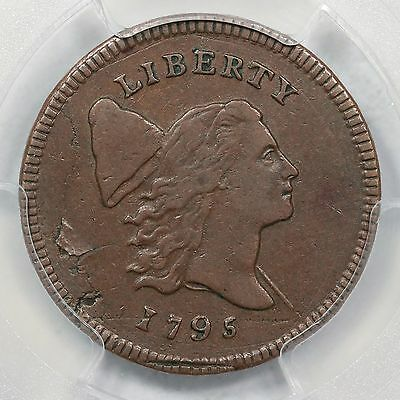 1795 C-1 R-2 PCGS VF 25 Lettered Edge Liberty Cap Half Cent with Pole Coin 1/2c