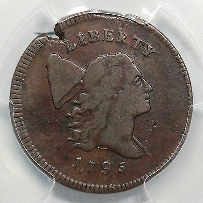 1795 C-4 R-3 PCGS VF 25 Liberty Cap Half Cent with Pole Coin 1/2c