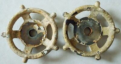 2 Industrial Oil Refinery Cast Iron Water Valve Handles Steampunk  Lot #4