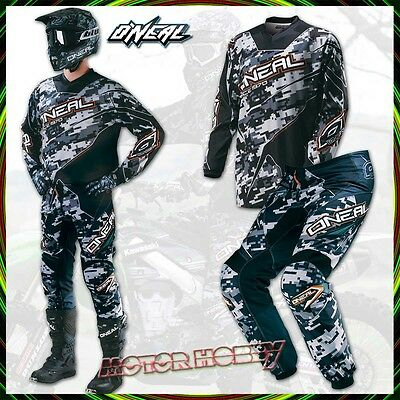 Completo Cross Enduro O'neal Oneal Element Digi Camo Black Multi Taglia 32 - L