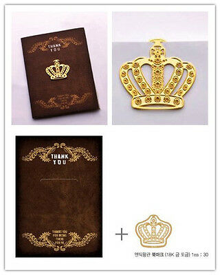 Crown Gold-plated Stainless Clip Bookmark - Perfect gift