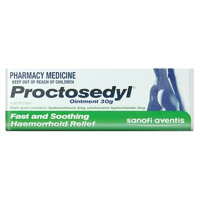 Proctosedyl Ointment 30g - Relief of the Discomfort of Haemorrhoids or Fissures