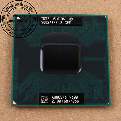 Intel Core 2 Duo T9600 - 2.8 GHz 1066 MHz SLG9F Socket P PGA478 CPU for Laptop