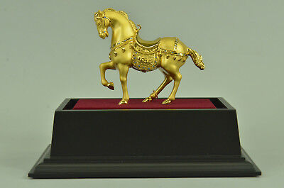 "Vintage Chinese Export Bronze Trojan Warrior Equestrian ""Tang Horse"" Statue Sale"