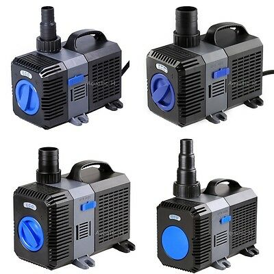 1200-4200GPH Submersible Inline Pond Pump Aquarium Fountain Waterfall Koi Filter