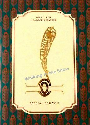 Peacock's Feather - Gold-plated Stainless Metal Clip Bookmark Perfect Gift