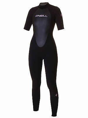 O'Neill Reactor Convertible Ladies 3/2mm Wetsuit in Black