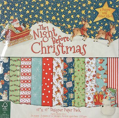 """The Night Before Christmas 12"""" x12"""" Designer **Sample**Pack By Helz Cuppleditch"""