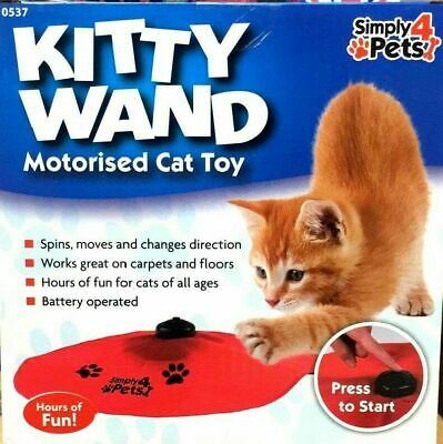 Cat Wand Moving Undercover Motorized Mouse Tail Chasing Wand Cat Game Toy