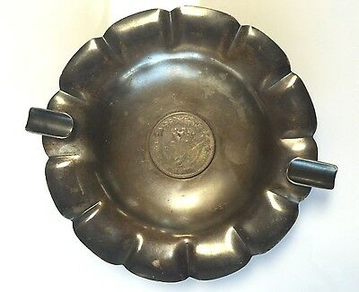 MACIEL Sterling Silver .925 ASH TRAY With 1909 Mexico 8 Reales *NICE*