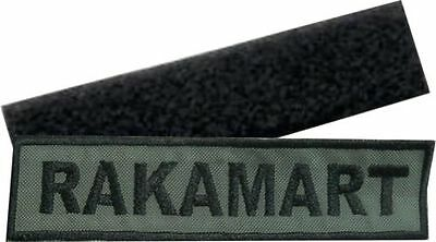 Patch Velcro Personalized Name Softair Military