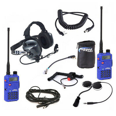 Racing Radios Complete 5watt IMSA Communications Driver to Spotter Kit Rugged