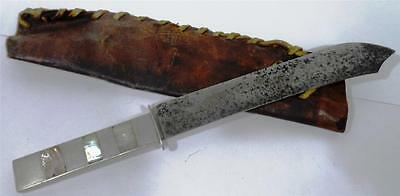 Us American Confederate Civil War Bowie Knife Pearl German Silver Handle Leather