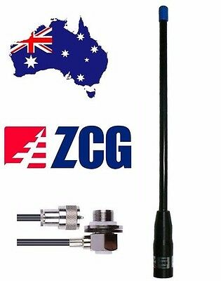 ZCG SCALAR GRN480 UHF CB Flexi 4dbi Super Rugded Antenna +cable + Connector NEW