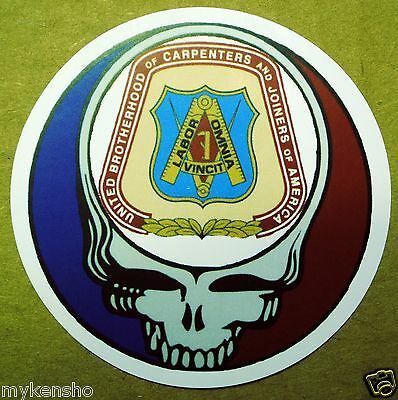 5 Carpenters Union Grateful Dead hardhat stickers Steal your face brotherhood