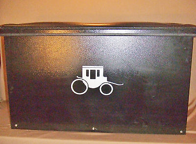 Logan Coach Metal Horse Trailer Tack Or Equine Sport Trunk Bench W/ Padded Seat