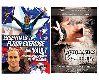 Gymnastics Psychology Book and Essentials for Floor Exercise and Vault 3 DVDs