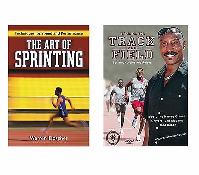 The Art of Sprinting Techniques for Speed Book & Sprints Hurdles and Relays DVD
