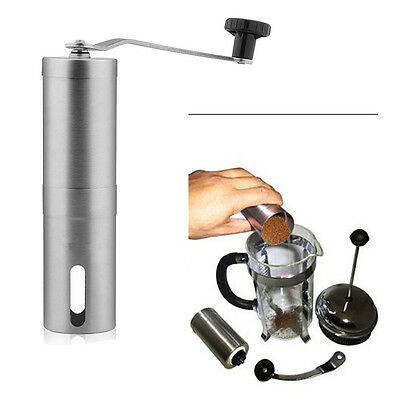 Ceramic Burr Manual Coffee Grinder Sturdy Hand Crank Stainless Steel Coffee Mill