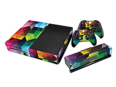 Colorful Crystal Full body Decal Skin Sticker For Xbox one Console Gamepad