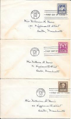 United States 1940 Poets 5 x First Day Covers USA