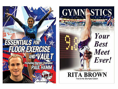 Gymnastics Your Best Meet Ever Book and Floor Exercise and Vault 3 DVDs