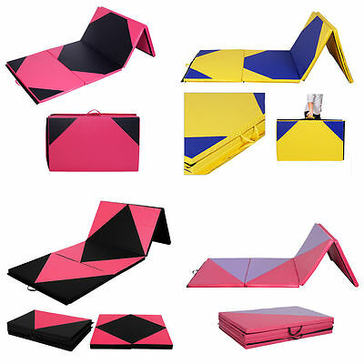 """2"""" Thick Soft Play Folding Panel Gymnastics Mat Pattern GYM Fitness Exercise Top"""