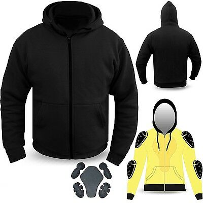 Motorcycle Hoodie Hoody Ful Kevlar Armored Lined Fleece Ultimate Protection