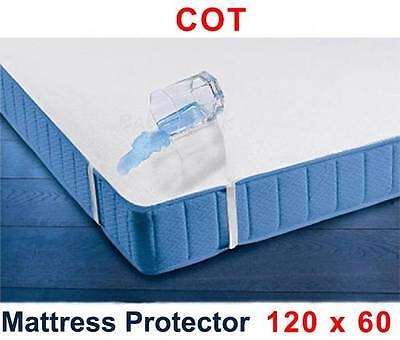 Waterproof Mattress Protector 120 x 60 cm /Baby Cot Breathable Terry Sheet Cover