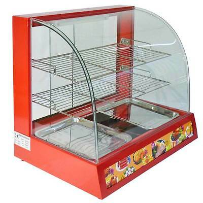 Hot Food Warming Electric Display Cabinet Counter Pie Pasty Sausage Rolls 66cm