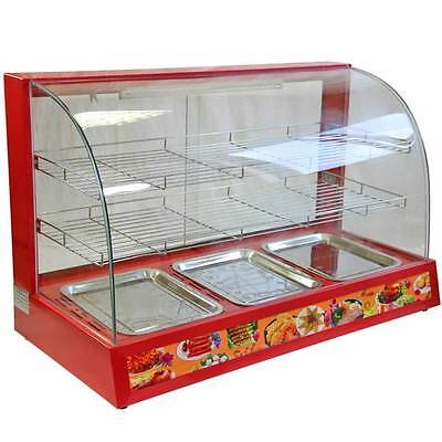 Hot Food Warming Electric Cabinet Counter Pie Chicken Pasty Sausage Rolls 95cm
