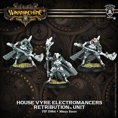 Warmachine: Retribution: House Vyre Electromancers Unit (PIP35066) NEW