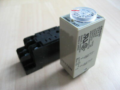 Omron Delay-On Timer Time Relay 2~60min 2-Pole 12VDC H3Y-2 w/ Socket #E20D