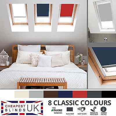 Blackout Thermal Roller Roof Skylight Blinds For All Fakro Windows - 8 Colours