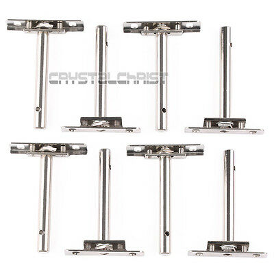 4 Pair Hidden Shelf Support Concealed Floating Metal Brackets Set